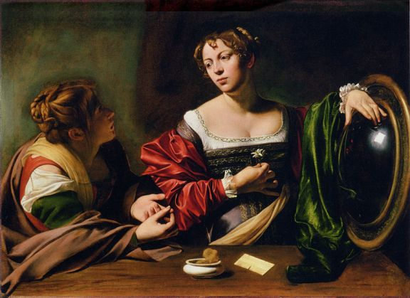 Martha and Mary Magdalene, 1598, Carvaggio