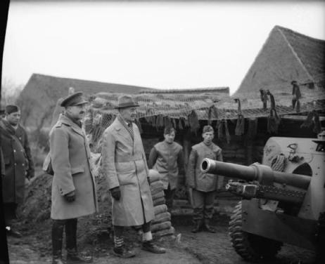 PM Chamberlain inspecting the British army in France in late 1939.  The resistance they put up failed to stop the German advance.