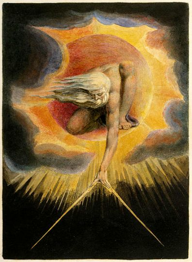 "William Blake's illustration ""The Ancient of Days"" from ""Europe: A Prophecy"", circa 1794"