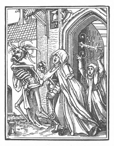 'Danse Macabre 15' print, Hans Holbein the Younger, published 1538
