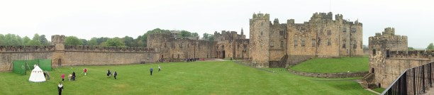 Panoramic view inside Alnwick Castle, where Sir Thomas Grey was born. (Author photo)