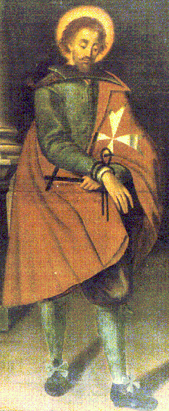Painting of Sir Adrian Fortescue that is located at the Collegio di San Paolo in Rabato in Malta. Artist unknown - uploaded to Wikipedia by user Alekjds.