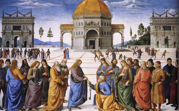 """The Delivery of the Keys"" by Pietro Perugino, circa 1481-1482"