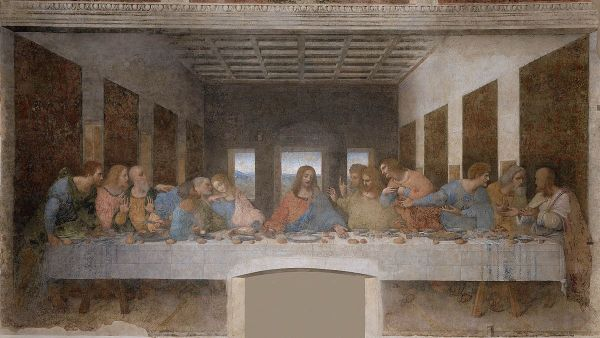 """The Last Supper"" by Leonardo da Vinci, circa 1495-1498"