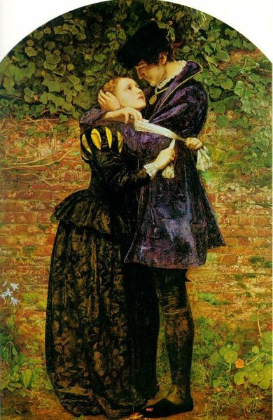 In this 1852 painting by John Everett Millais, a woman attempts to protect her Huguenot sweetie from violence by placing on him a Roman Catholic badge, but he refuses on principle.