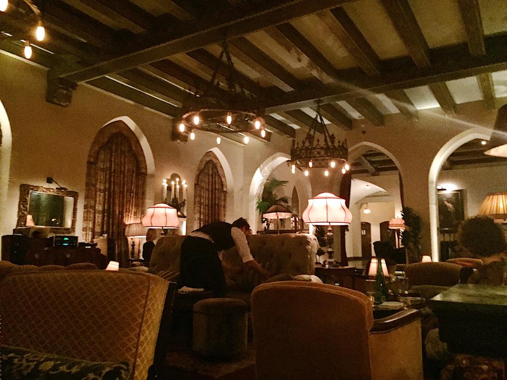 chateau marmont hotel bar lobby