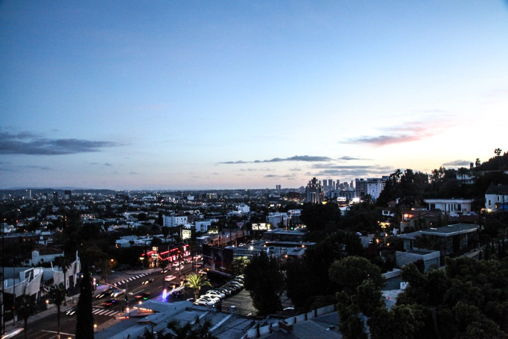 view of la from chateau marmont