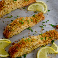 Panko and Herb Crusted Salmon