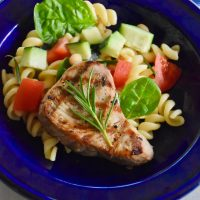 Grilled Tuscan Tuna with Cannellini Bean Pasta Salad