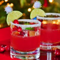 Christmas Cranberry Margaritas