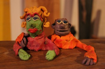 Couple, 2012, modelling clay.