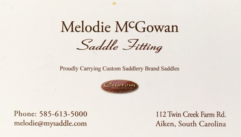 melodie mcgowan saddle fitting