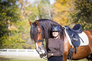 Amy McElroy with horse