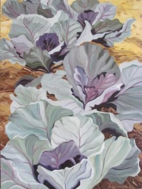 Purple Cabbage, 22 x 30