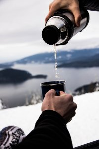 winter hike and drinks