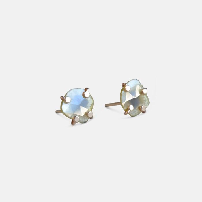 Amy Nordstrom - 14k Diamond Slice Studs