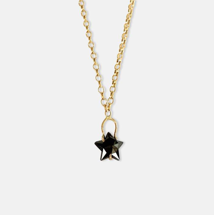 14k Black Star Diamond by Amy Nordstrom