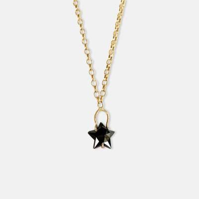 14k Black Star Diamond by Amy Nordstrom