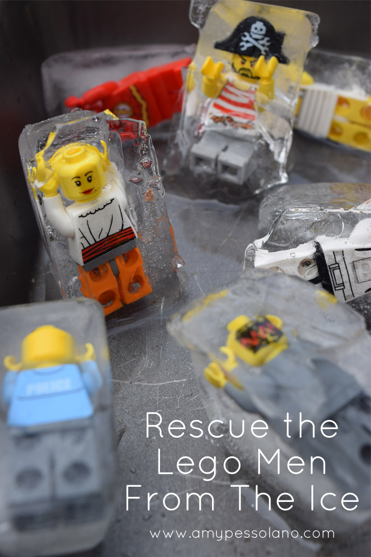 Rescue the Lego Men  Ice Excavation Activity   Amy Pessolano A fun way to cool off on a hot day