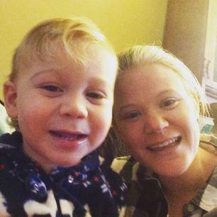 Robin with her nephew, Luke.