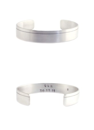 For Quinton From Mitchell, 2012, cuff, 925 silver