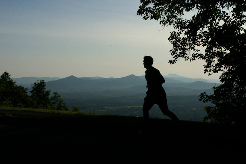 View from the course of the Blue Ridge Half-Marathon — one of several things motivating me this week.