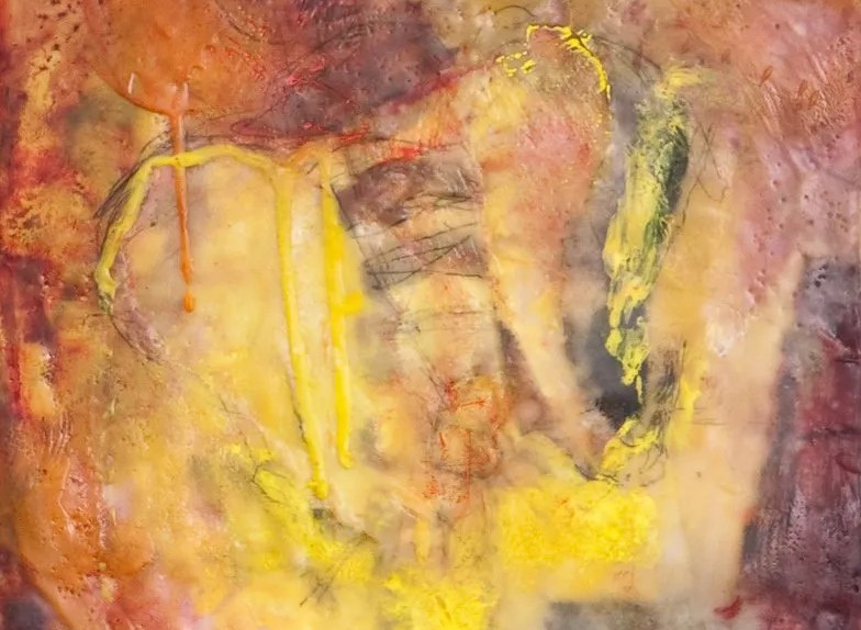 Breath of Life, Encaustic on Panel