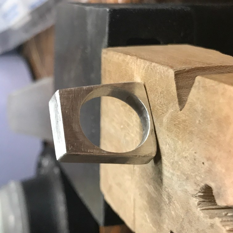 Hollow Form Ring in Sterling