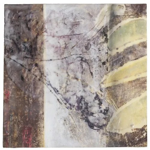 "Cadence, Encaustic Mixed Media on Panel, 10"" x 10"" x 3"""