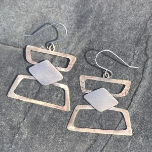 Brass Stacks Earrings