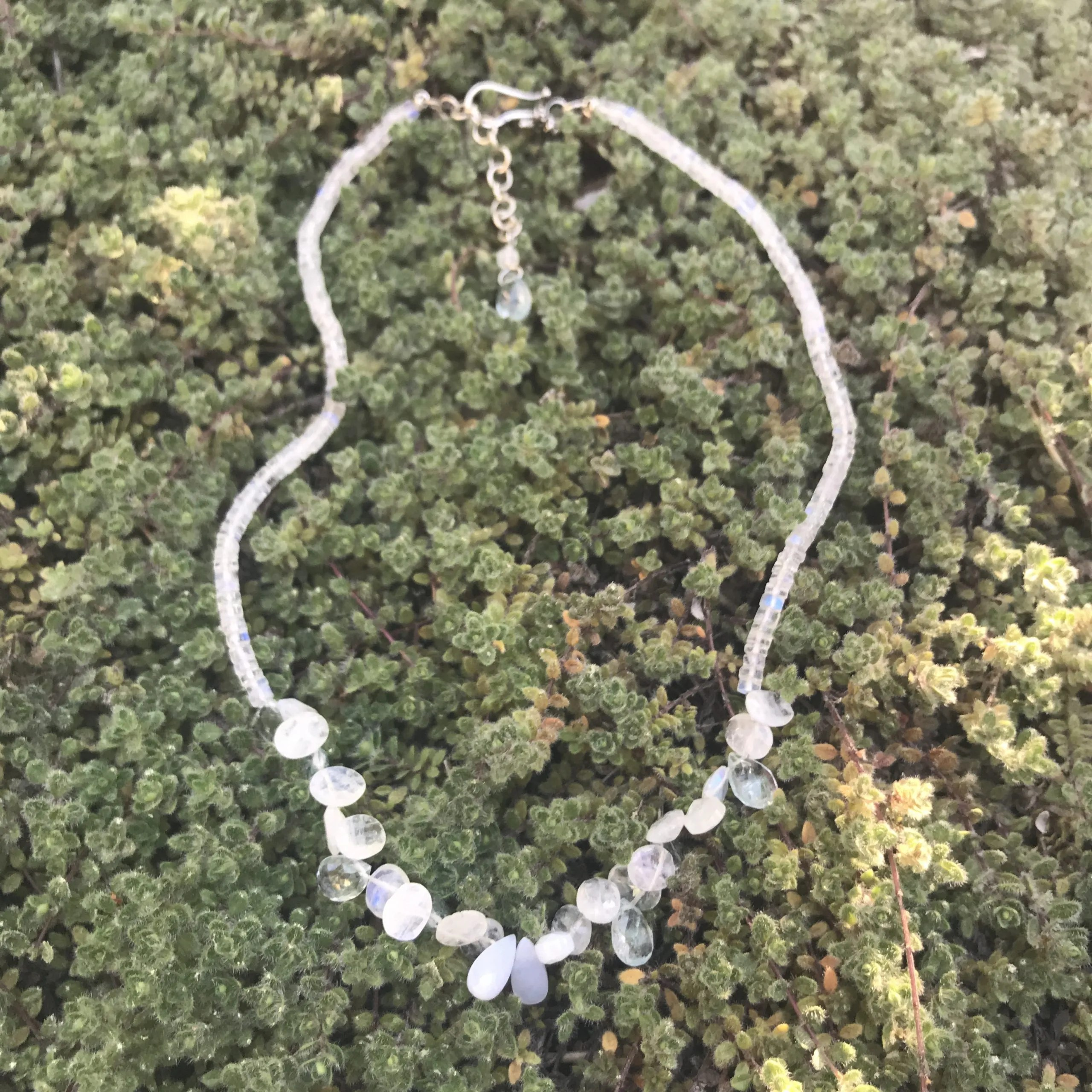 Moonstone and Agate Necklace