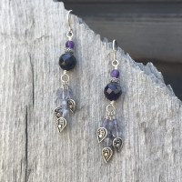 Amethyst and Iolite Drop Earrings