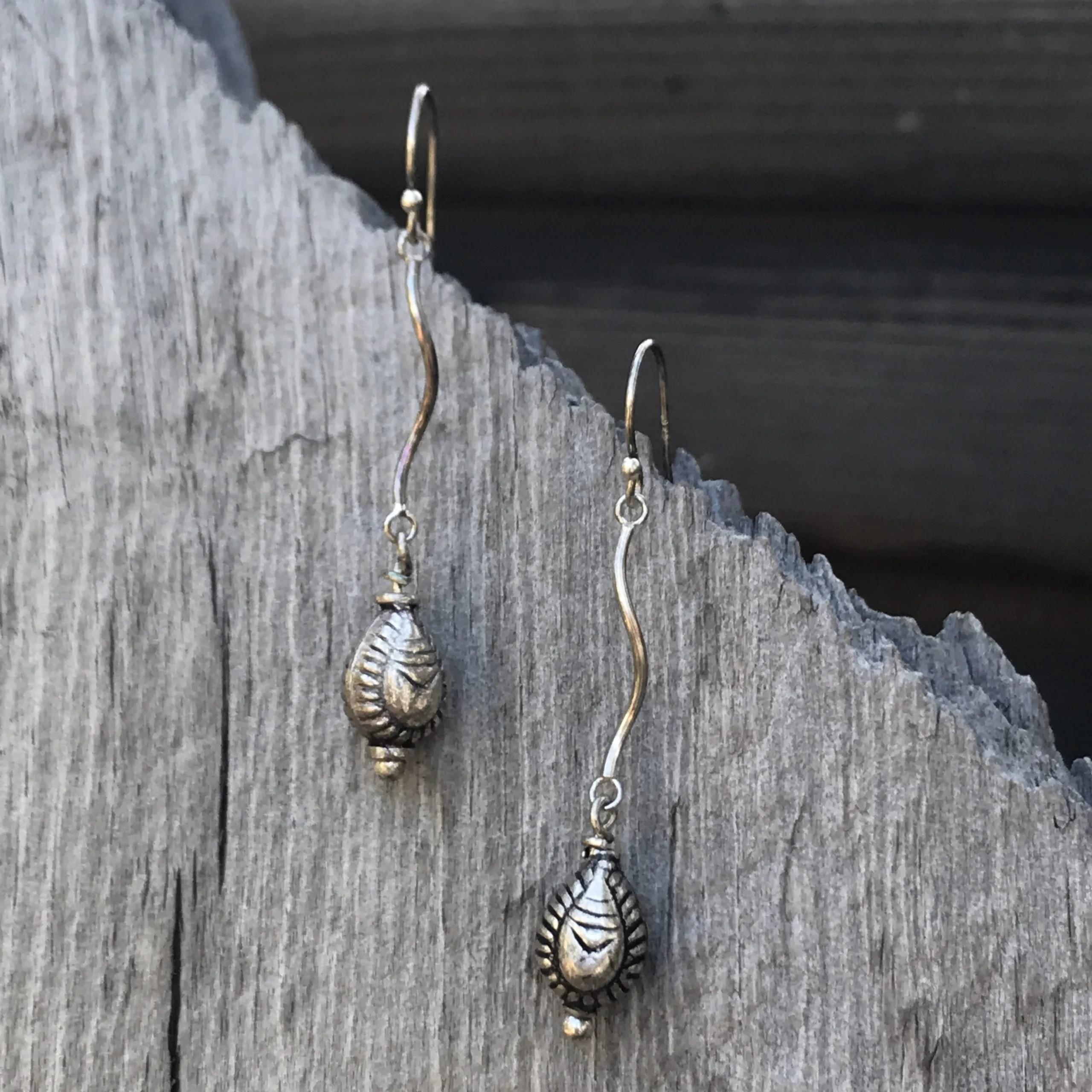 Sterling Silver Spiral Drop Earrings
