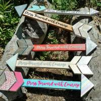 Press Forward DIY Wood Arrow Craft