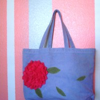 DIY hand dyed bag