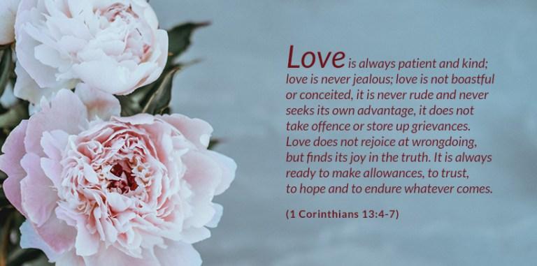 Love is Patient 1 Corinthians 13:4-7