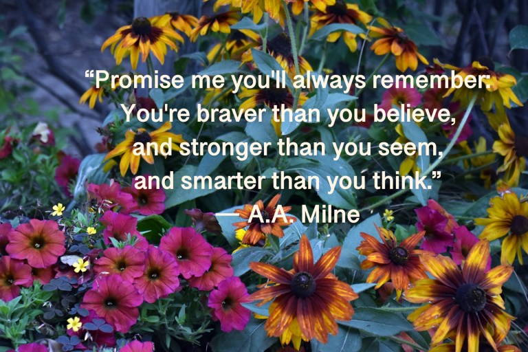 Milne Pooh Quote on Friends