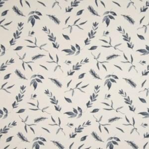Tricot - Qjutie bedrukt Leaves Greyblue