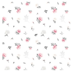 Tricot - Smal flowers pink