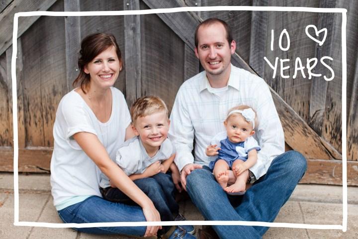 Ten years of marriage photo