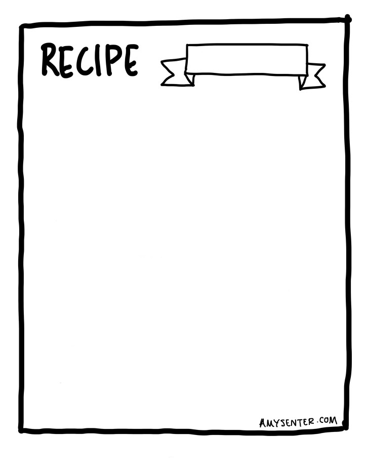 Recipe card for meal plan