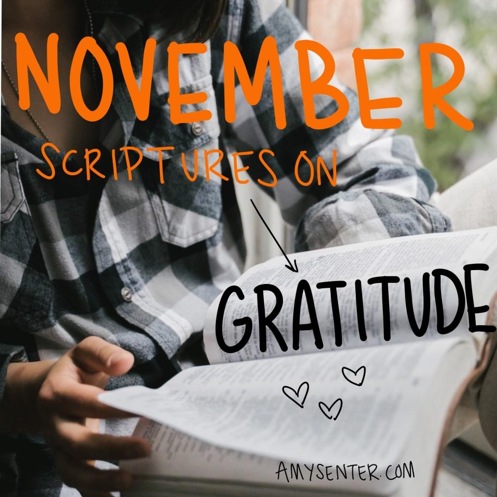 November Scripture Study of 30 Bible Verses on Gratitude