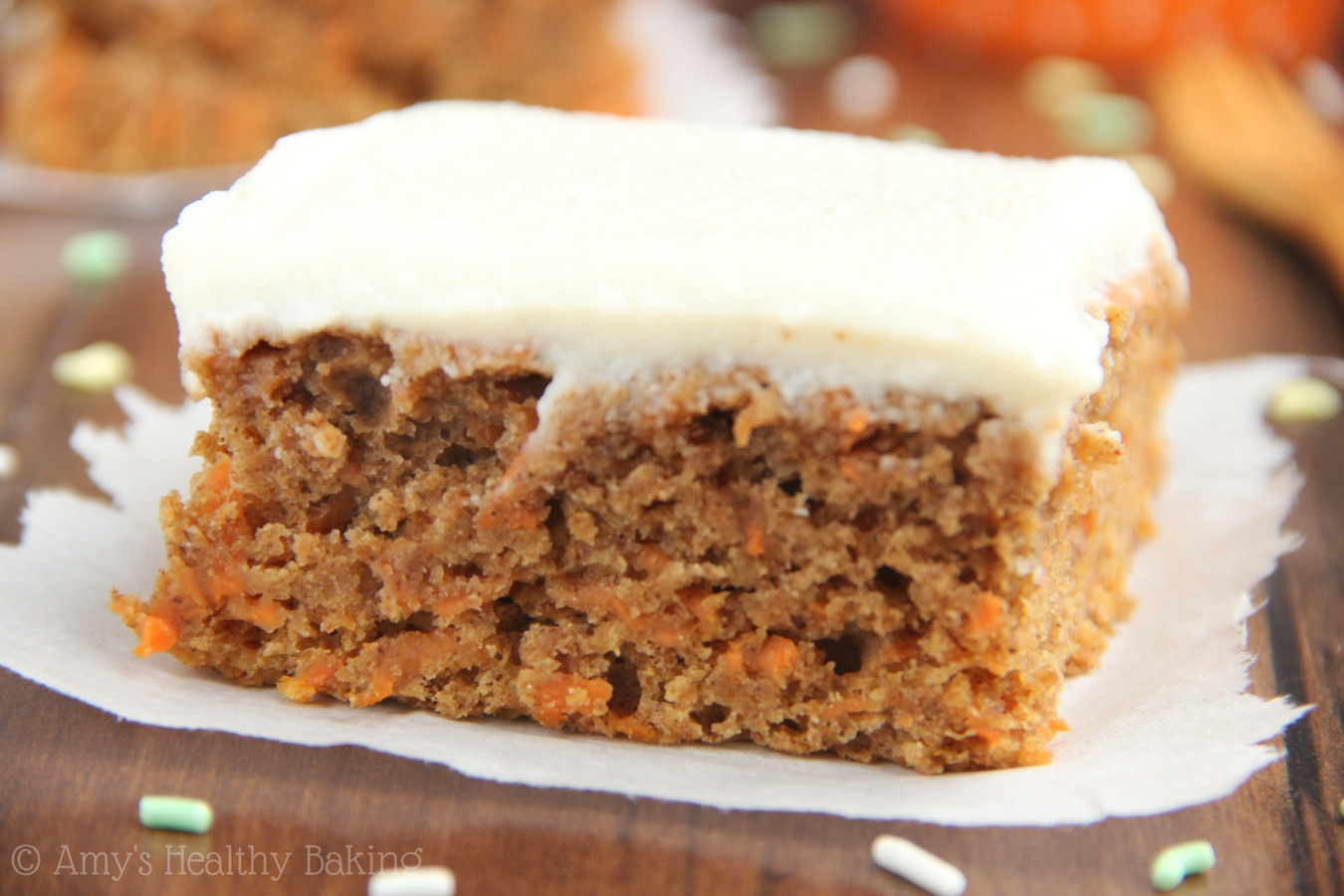 Classic Carrot Cake   Amy s Healthy Baking An easy no mixer required recipe for lightened up Classic Carrot Cake  The