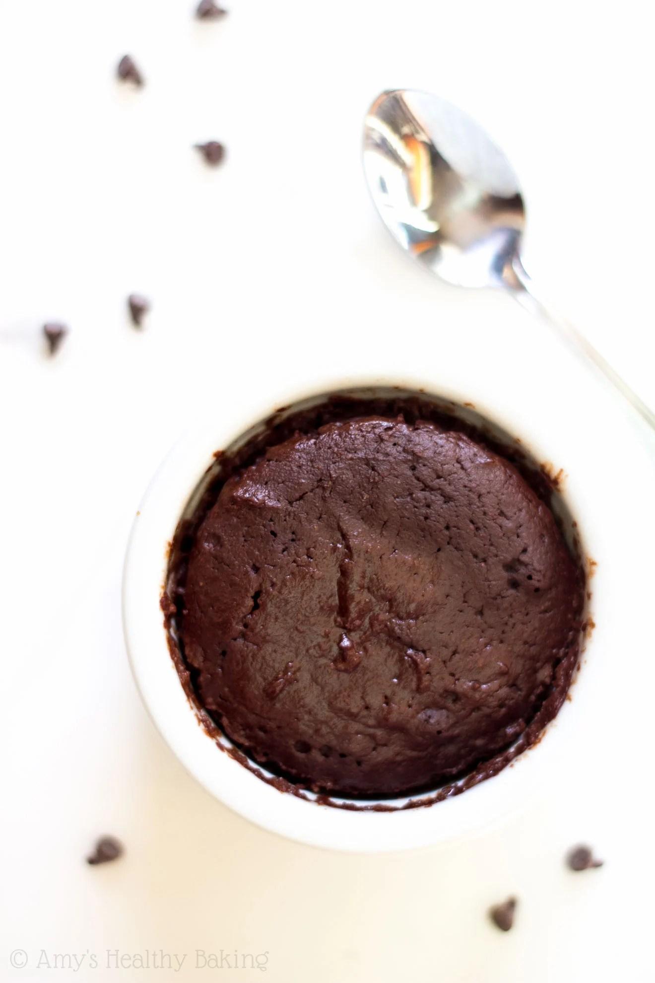 single serving clean chocolate mug cake