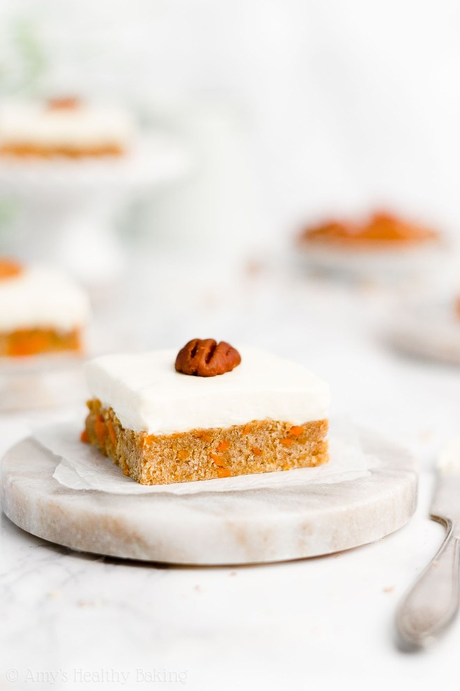 Easy Healthy Gluten Free No Sugar Soft Chewy Carrot Cake Cookie Bars