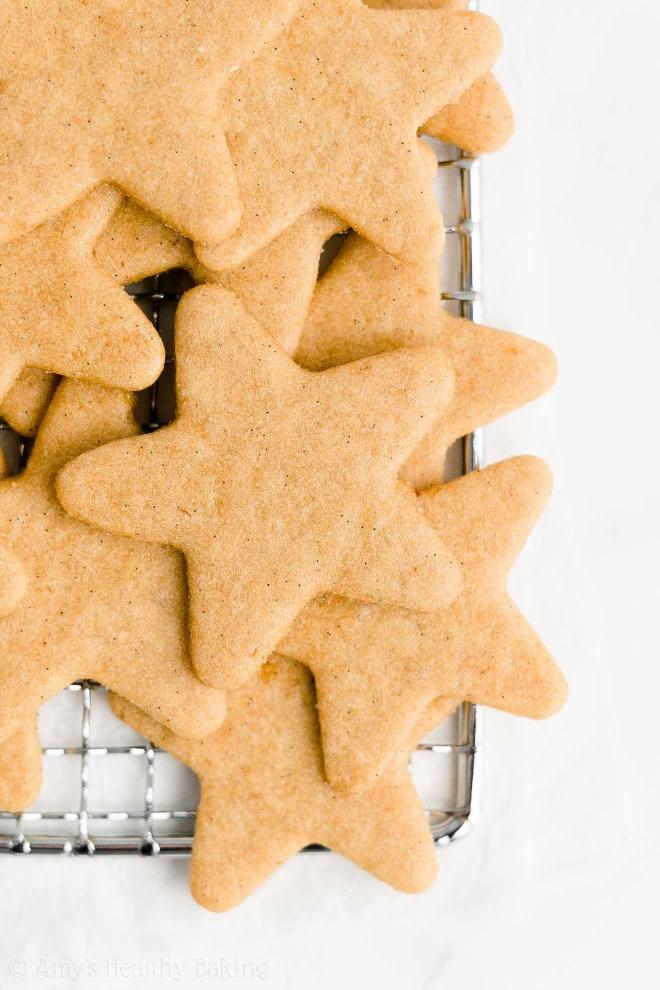 Best Easy Healthy Homemade Low Calorie Low Sugar Vanilla Bean Sugar Cookies