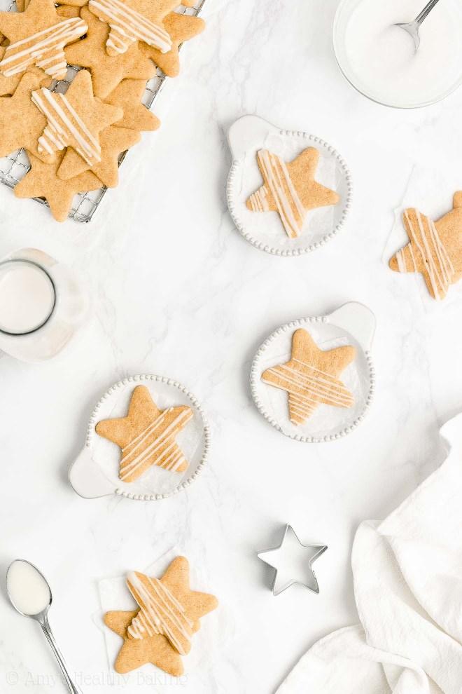 Best Easy Healthy Gluten Free Soft Chewy No Sugar Vanilla Bean Sugar Cookies