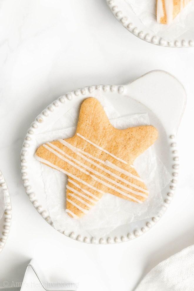 Best Easy Healthy Whole Wheat Low Calorie Vanilla Bean Paste Sugar Cookies