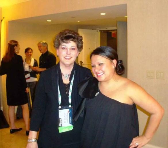Amy with Tina Martinez of Morris Animal Foundation