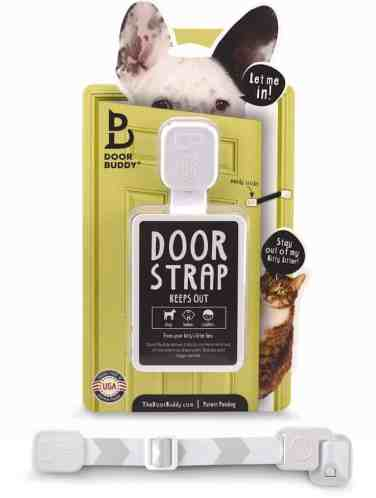 Prevent dog access to litter box with The Door Buddy